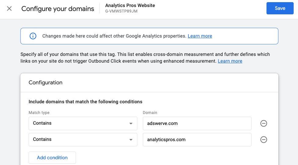 Cross-Domain Tracking - Google Analytics 4